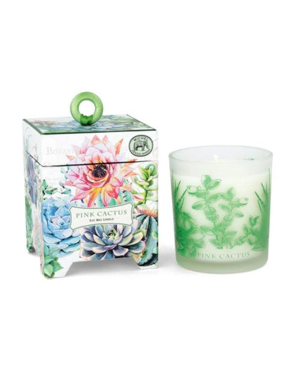 michael design works - pink cactus candle